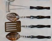 Cutco Cutlery Kitchen Utensil 5 piece Set Spoon Ladle Turner Mix Stir Whisk
