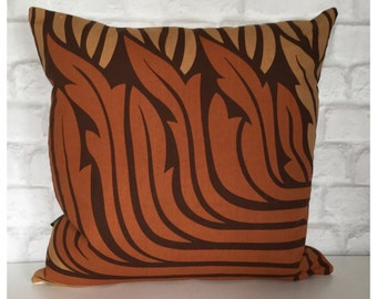 """Cushion Cover Vintage 70s Heals Rosamund Fabric Peter Hall For Heals 18"""" x 18"""""""