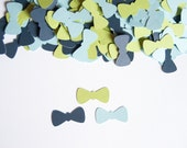Bow Tie Confetti - Little Man Baby Shower- Baby Boy Shower Decoration - Light Blue,Apple,Navy