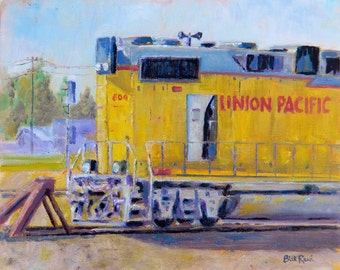 Union Pacific #604 - print of my original oil painting