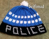 Handmade Tardis hat-made on order) Doctor Who/Police Box