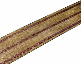 Burgundy and Gold Jute Lace / Border / Sari Ribbon / Trim / Lace for Dresses, Sari  and more
