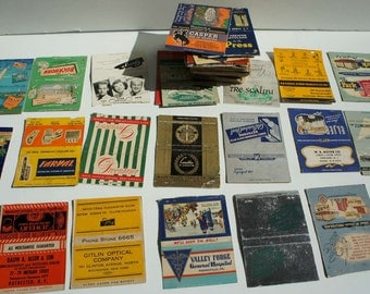 Vintage Match Book Collection 1940s and 1950s Set of 100 Vintage Advertising