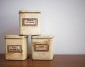 Vintage German Herbal Pharmaceutical Tin Canister Set