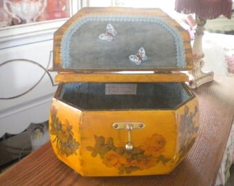 1940's Purse, Decoupage, Vintage, Antique, Collectible,French,Brass,French country,Eclectic