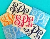 "3"" wide ea. Personalized Monogram (Classic Monogram Style) - Set of Six (6) - Mini Decalz"