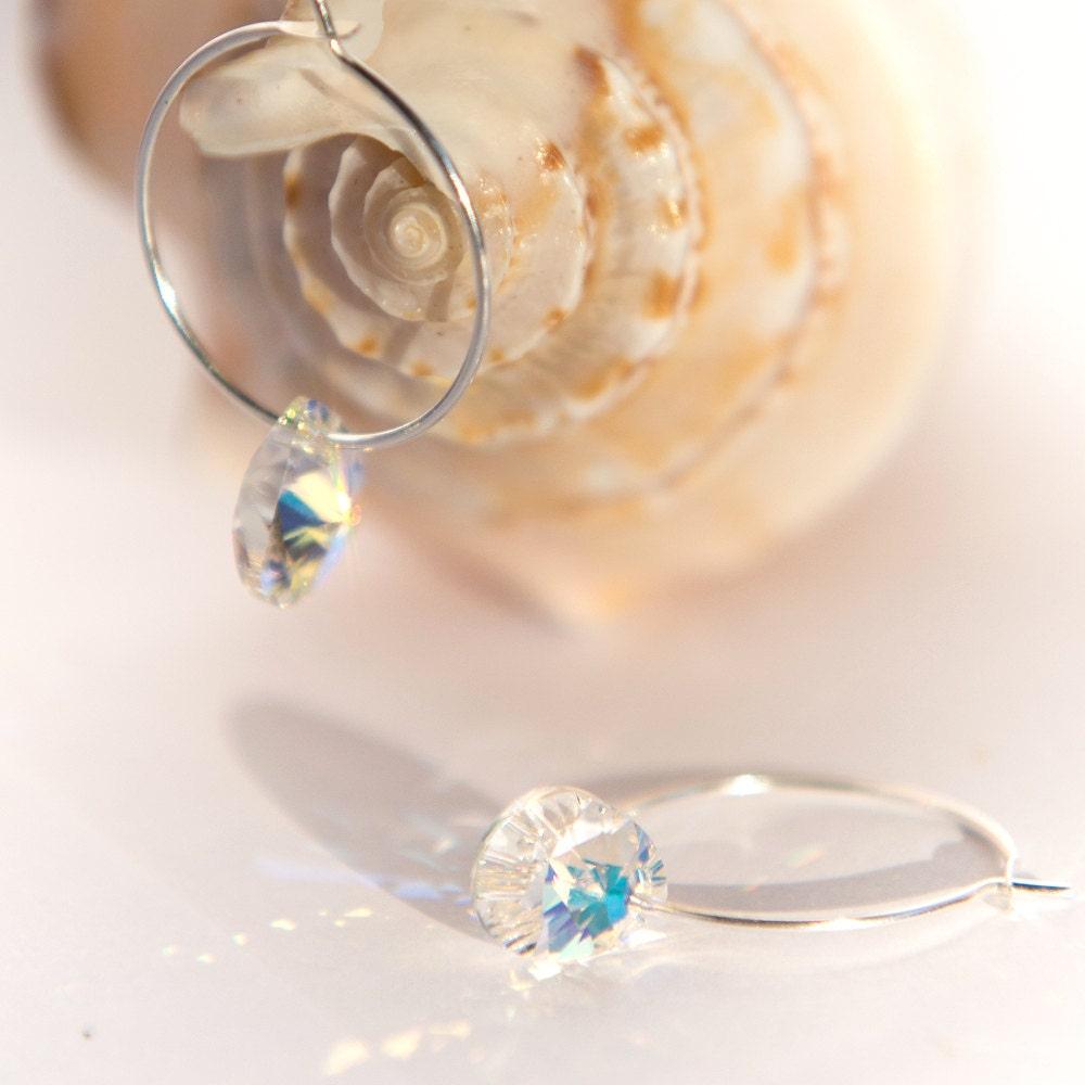 minimal earrings minimalist earrings small silver hoops. Black Bedroom Furniture Sets. Home Design Ideas