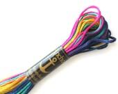 Anchor 1375 Variegated 6 Strand Floss Harlequin Rainbow