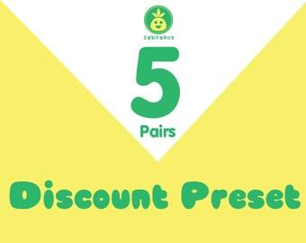 Discount Preset for 5 pair
