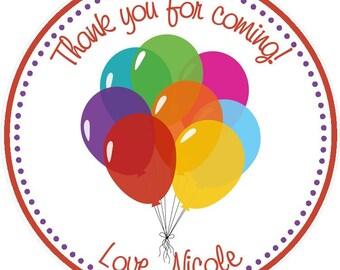 Balloon Party Favor Tags ( Set of 12 ) / Balloon Birthday Favors / Balloon Favor Tags / Birthday Favor Tags / Birthday Party Favors