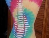 Tie Dyed Shredded Cut Braided Tank Top Womens Size Medium
