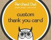 Custom Coordinating Fold Over Thank You Card - Digital File