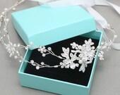 Bridal Tiara, Wedding Tiara, Wedding Crown, Silver Tiara, Headpiece Tiara, Headband, Bridal Hair Accessories Tiara, Pearl Tiara, Headband