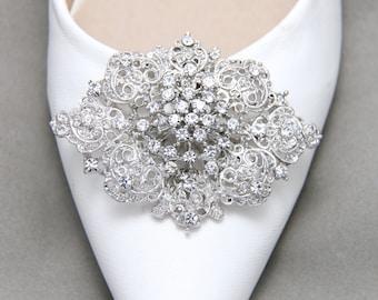 A pair,Wedding Shoe Clips,Bridal Shoe Clip,Crystal Shoe clip,Rhinestone Shoe Clip,Bridesmaids Shoe Clips, Shoe Embellishments