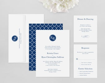 Wedding Invitation Modern Sample - Kennedy - Wedding Invitation, Modern Wedding Invitation, Modern Wedding Invitations, Wedding Invitations