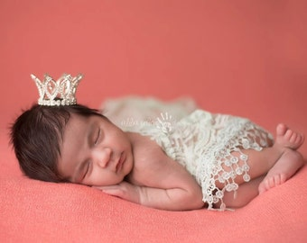 Rhinestone Crown, Princess Crown, Newborn Crown- Austrian Rhinestone Princess Newborn Crown