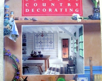 Laura Ashley Country Decorating Book, Vintage Laura Ashley Book, Hardcover Book, 1992 Decorating Book, First Edition