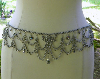 Pewter Decadence Chain Belt