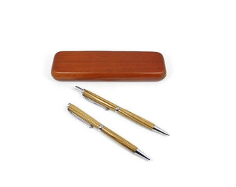 Zebra Wood Pen Set with Chrome Hardware. Hand Made Wood Pen. Personalized Gift. Custom Engraving Available! Birthday & Christmas Gift!
