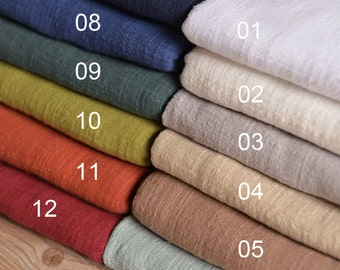 Soft Linen Cotton Gauze Fabric Sold by Half Meter MJ176