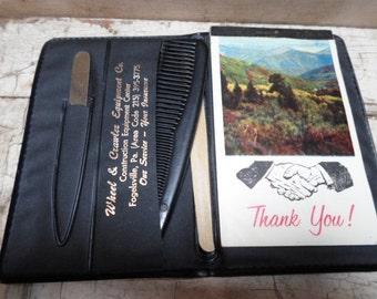 Little Black Book, Office Supplies, Memo Pad, Foglesville, 1970s, Desk Supplies, Advertising, Note Pad, Mad Men, Props, All Vintage Man