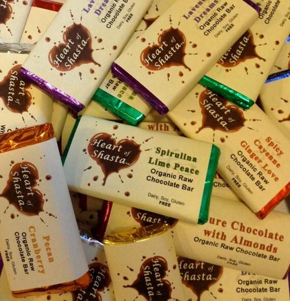 8 Piece Assorted Organic Raw Chocolate Bars
