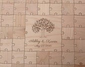 100-150 pcs. Custom Wedding Tree - Guest Book Puzzle -Guest Book Alternative - Mixed grain pieces