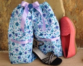Shoe Pants Travel Bag, Teal Shoe Bag, Dance Shoe Bag,  FREE Gift Bag