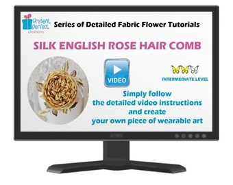Silk rose tutorial, fabric flower pattern, silk rose template, silk flower tutorial, millinery flower tutorial, how to make fabric flowers