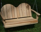 4 Foot Cypress Adirondack Porch Swing