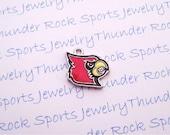 6 Louisville Cardinals Charms Silver Plated University Logo Pendants