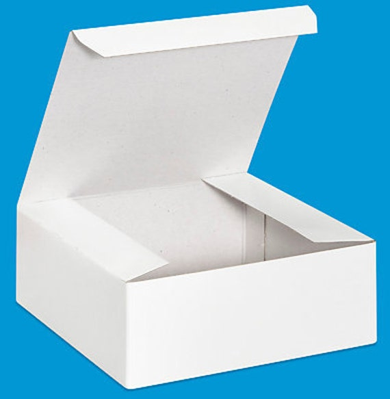 BOXES / White Gift Box  / Set of 10 / 6.5 x 6.5 x 1.6 inch / Food Safe Gift Packaging
