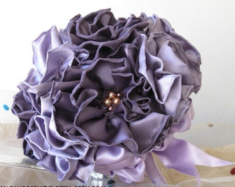 Purple Lavender Bridal Bouquet, Wedding Bouquet, Bridesmaid Bouquet, Flower Bouquet, Purple Bouquet, Plum Bouquet Purple Gold