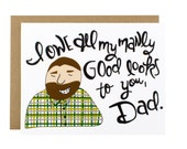 Fathers Day Card From Son - Manly Good Looks