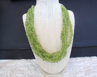 Peridot Multi strand losely braided