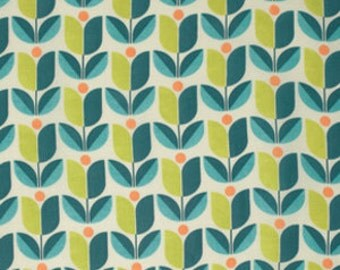 Joel Dewberry Fabric - 1 Metre FLORA, Tulip in Eucalyptus