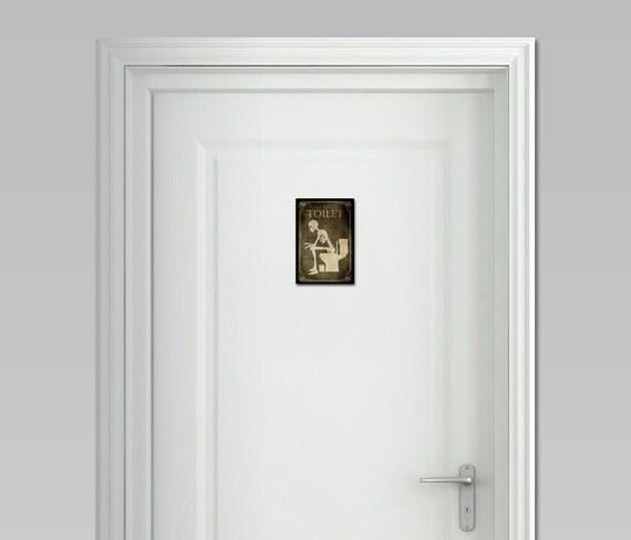 Bathroom Sign Halloween door signs of your choicetoilet