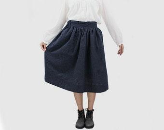 Woman Skirt Cute Skirt Spot Skirt Vintage Culture Skirt Cotton Skirt Bubble Skirt Spring Skirt