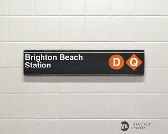 Brighton Beach Station - New York City Subway Sign - Wood Sign