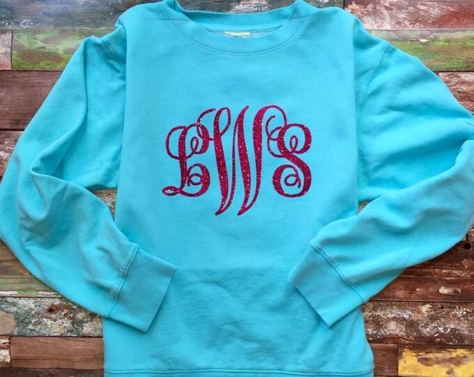 Monogram Sweatshirt - Monogram Shirt - Monogrammed Gifts - Women's Monogrammed Sweatshirt - Girls Monogram Sweatshirt