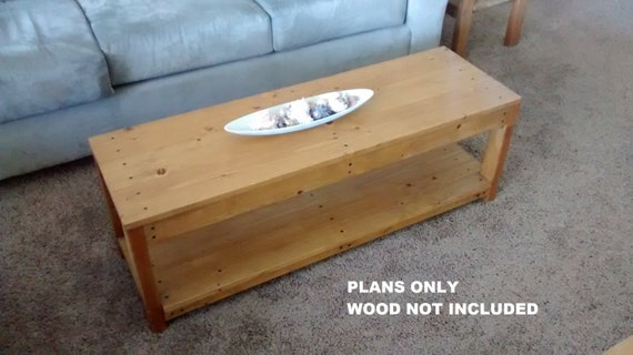 Diy Plans To Make Long Wooden Coffee Table