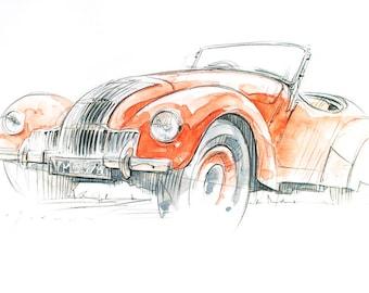 Allard Classic Car Print