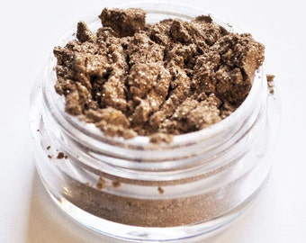 SALE!!! GOLD RUSH Small Mineral Eye Shadow: Natural Vegan Makeup Color