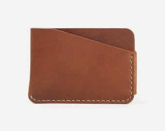 DHK GOODS 3-Pocket Card Wallet  - Horween leather - handmade card wallet