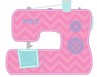 Sewing Machine Applique Embroidery Design- Instant Download