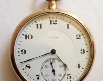 1920 Elgin open face working condition Mechanical Pocket watch