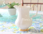 Vintage, English Bone China, Royal Albert Val D'or Tea Pot, Vintage Wedding Table, Tea Party, Repurposed Floral Vase