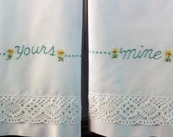 Hand Embroidered Pillowcase (Set of Two)