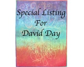 Special Listing for David ~ Dyed Fabric Quilted Wall Hanging Whole Cloth Quilt Fiber Art