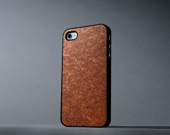 Redwood Burl iPhone 4/4s Real Wood Slim Matte Black Case - Made in the USA - FREE Shipping